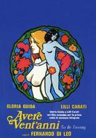 Avere vent'anni - Italian Movie Poster (xs thumbnail)