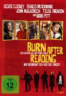 Burn After Reading - German DVD cover (xs thumbnail)