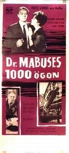 Die 1000 Augen des Dr. Mabuse - Swedish Movie Poster (xs thumbnail)