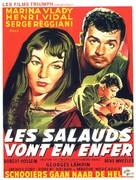 Les salauds vont en enfer - Belgian Movie Poster (xs thumbnail)