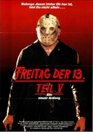 Friday the 13th: A New Beginning - German Movie Poster (xs thumbnail)