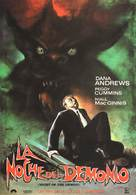 Night of the Demon - Spanish Movie Poster (xs thumbnail)