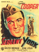 Sergeant York - French Movie Poster (xs thumbnail)