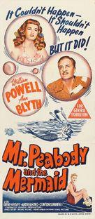 Mr. Peabody and the Mermaid - Australian Movie Poster (xs thumbnail)