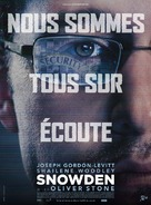 Snowden - French Movie Poster (xs thumbnail)