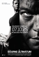 The Bourne Ultimatum - Hungarian Movie Poster (xs thumbnail)