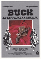 Buck and the Preacher - Finnish VHS movie cover (xs thumbnail)