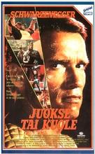 The Running Man - Finnish VHS movie cover (xs thumbnail)
