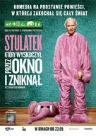 Hundraåringen som klev ut genom fönstret och försvann - Polish Movie Poster (xs thumbnail)