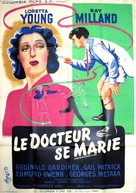 The Doctor Takes a Wife - French Movie Poster (xs thumbnail)