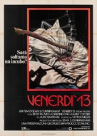 Friday the 13th - Italian Movie Poster (xs thumbnail)