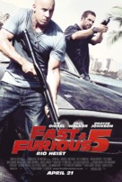 Fast Five - British Movie Poster (xs thumbnail)