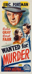 Wanted for Murder - Australian Movie Poster (xs thumbnail)