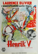 Henry V - Swedish Movie Poster (xs thumbnail)