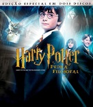 Harry Potter and the Sorcerer's Stone - Brazilian Blu-Ray cover (xs thumbnail)
