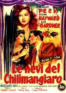 The Snows of Kilimanjaro - Italian Movie Poster (xs thumbnail)