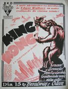 King Kong - Brazilian Movie Poster (xs thumbnail)