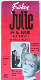 Fröken Julie - Swedish Movie Poster (xs thumbnail)