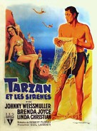 Tarzan and the Mermaids - French Movie Poster (xs thumbnail)