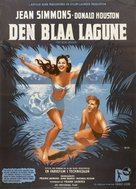 The Blue Lagoon - Danish Movie Poster (xs thumbnail)