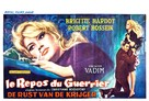 Le repos du guerrier - Belgian Movie Poster (xs thumbnail)
