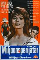 The Millionairess - Finnish Movie Poster (xs thumbnail)