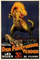 The Lost World - Danish Movie Poster (xs thumbnail)
