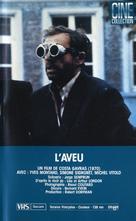 L'aveu - Canadian VHS cover (xs thumbnail)