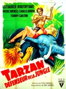 Tarzan's Savage Fury - French Movie Poster (xs thumbnail)