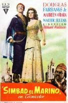 Sinbad the Sailor - Spanish Movie Poster (xs thumbnail)