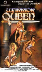 Warrior Queen - Spanish VHS cover (xs thumbnail)