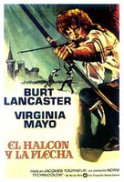 The Flame and the Arrow - Spanish Movie Poster (xs thumbnail)