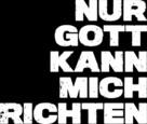 Nur Gott kann mich richten - German Logo (xs thumbnail)