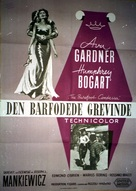 The Barefoot Contessa - Danish Movie Poster (xs thumbnail)