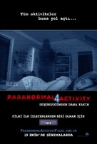 Paranormal Activity 4 - Turkish Movie Poster (xs thumbnail)