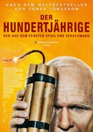 Hundraåringen som klev ut genom fönstret och försvann - German Movie Poster (xs thumbnail)