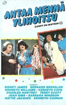 Carry on Matron - Finnish VHS movie cover (xs thumbnail)