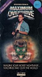 Maximum Overdrive - VHS movie cover (xs thumbnail)