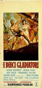 Dieci gladiatori, I - Italian Movie Poster (xs thumbnail)