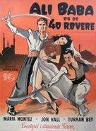 Ali Baba et les quarante voleurs - Danish Movie Poster (xs thumbnail)