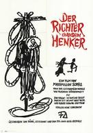 Der Richter und sein Henker - German Movie Poster (xs thumbnail)