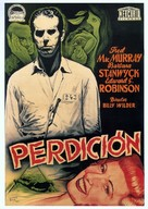 Double Indemnity - Spanish Theatrical movie poster (xs thumbnail)