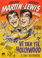 Hollywood or Bust - Danish Movie Poster (xs thumbnail)