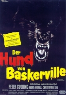 The Hound of the Baskervilles - German Movie Poster (xs thumbnail)