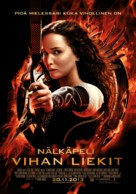 The Hunger Games: Catching Fire - Finnish Movie Poster (xs thumbnail)