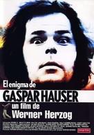 Jeder für sich und Gott gegen alle - Spanish Movie Poster (xs thumbnail)