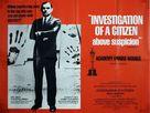 Indagine su un cittadino al di sopra di ogni sospetto - British Movie Poster (xs thumbnail)