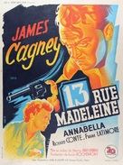 13 Rue Madeleine - French Movie Poster (xs thumbnail)