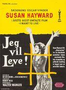 I Want to Live! - Swedish Movie Poster (xs thumbnail)