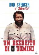 Esercito di cinque uomini, Un - Italian Movie Poster (xs thumbnail)